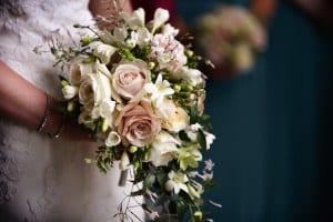 peachy,pink bride bouquet